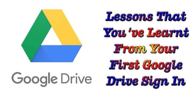Google Drive Sign In Lessons