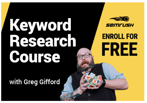 semrush keyword research course